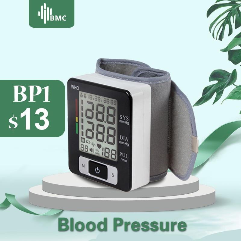 BMC Wrist Digital Blood Pressure Monitor Automatic Sphygmomanometer Smart Medical Machine Measure Pulse Rate Fitness Measurement