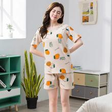 Летняя Пижама женский костюм повседневный Милый комплект из