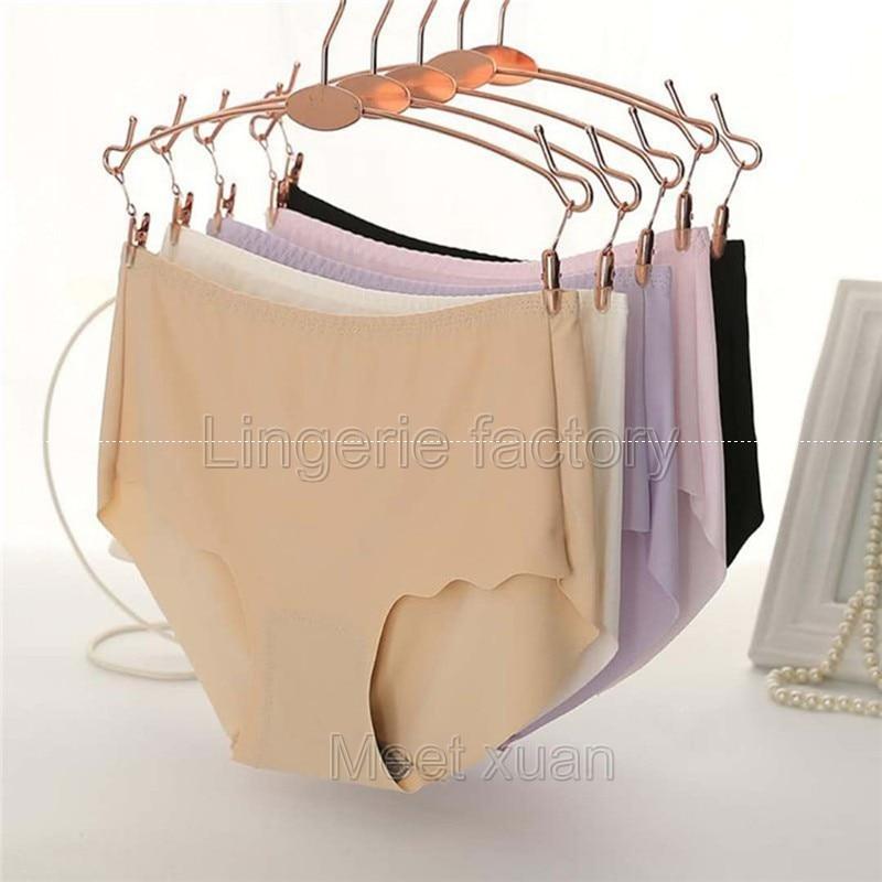 Nylon Sexy   Panties   Women Fashion seamless Lingerie Briefs High Quality Mid Waist Cute Women Underwear Plus size 52 XXL