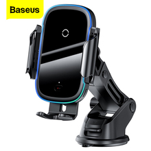 Baseus Qi Car Wireless Charger For iPhone Samsung Xiaomi 15W Induction Fast Wireless Charging Car Phone Holder Wirless Charger