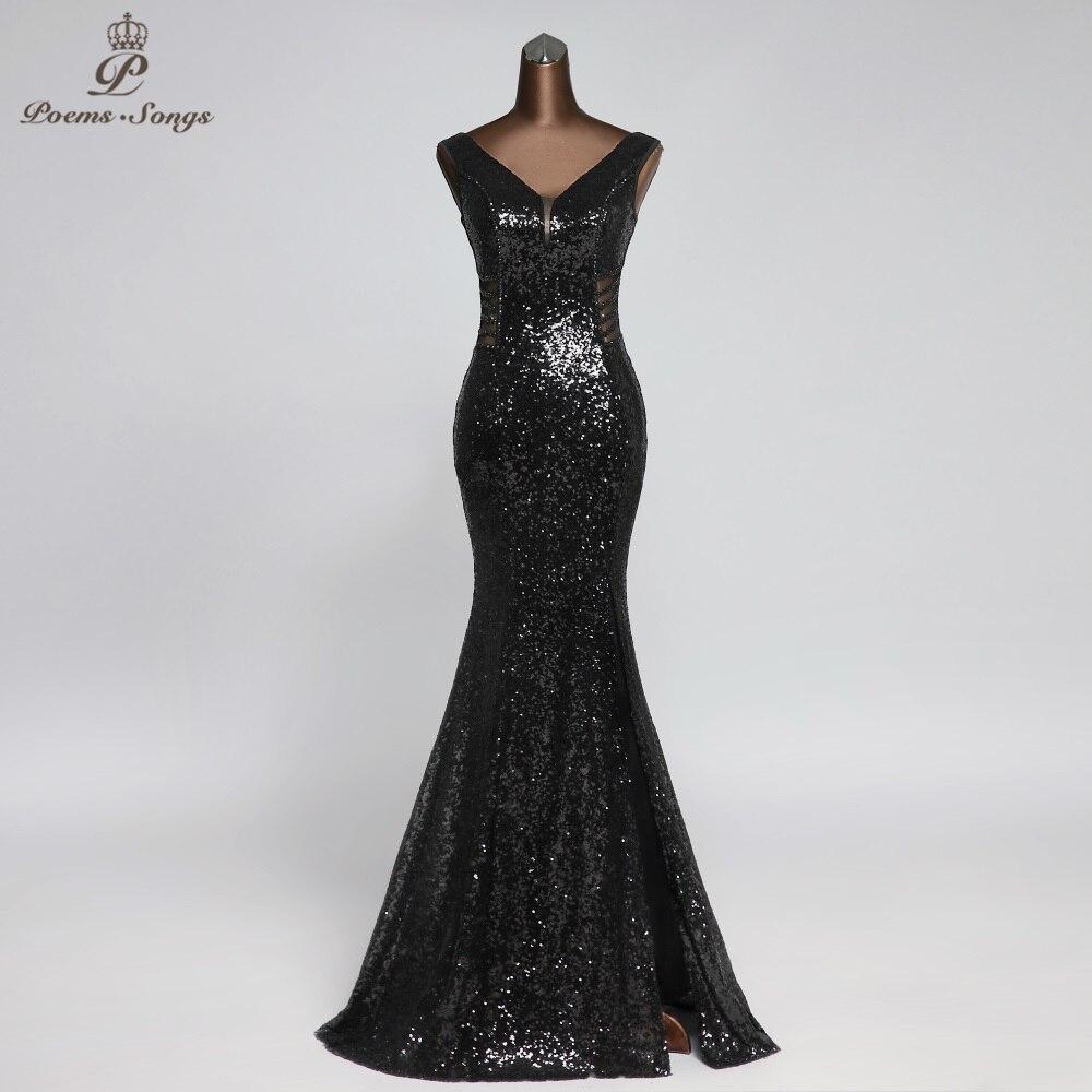Sexy Waist Style Black Color Memaid Evening Dress Prom Dresses Attractive Robe De Soiree Vestidos Elegantes Vestido De Festa