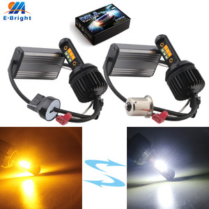 P21W 2X Canbus 1156 BA15S R3 12 SMD KIT W&A Dual Color led Bulb BAU15S 3156 7440 Vehicles Backup Turn Signal Head Light