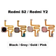 Para xiaomi redmi s2/para redmi y2 scanner de impressão digital sensor toque id início botão retorno conjunto cabo flexível