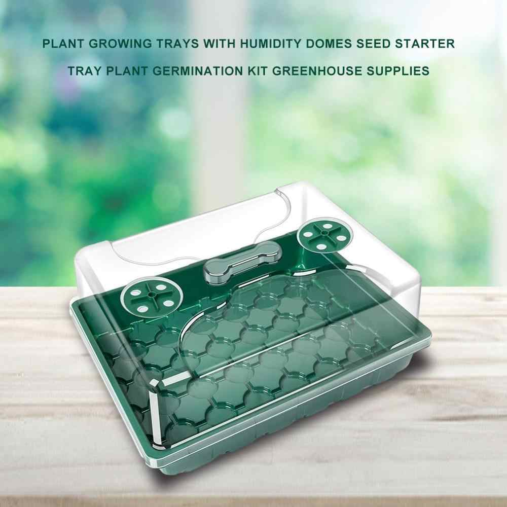 3pcs Seed Starter Tray 12 Cells Plant Germination Kit Garden Tool with Lids Box