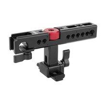 CAMVATE Nato Top zestaw uchwytów z 15mm zacisk pręta i uchwyty do butów dla klatka operatorska Rig (czarny) C1585 aparat akcesoria fotograficzne