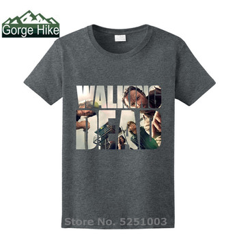 The Walking Dead Movie tshirt Paparazzi T-Shirt Rick Grimes Carl Daryl Michonne popular Man fashion brand T shirts hot selling image