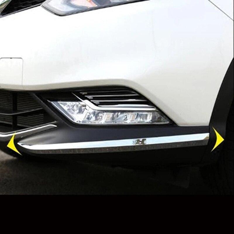 front bumper cover Trim corner scratch scuff protector Trim  decorative strip  Fit  for  Nissan Qashqai  2016 2017|Chromium Styling|   - AliExpress