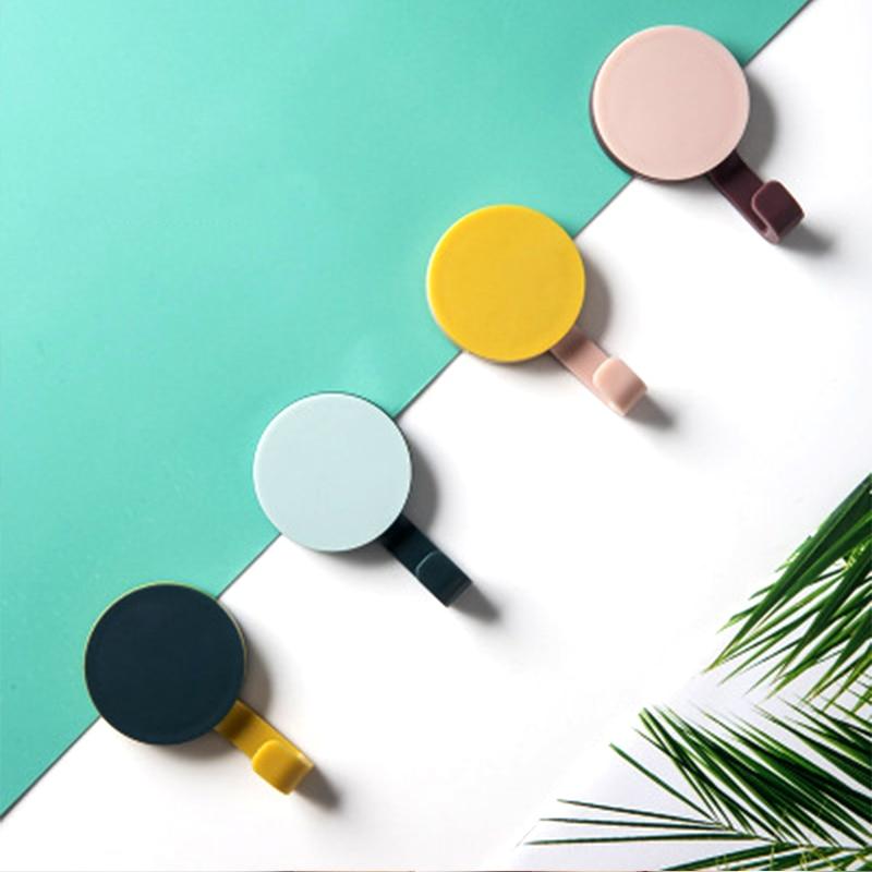 8 шт., скандинавские Крючки для пальто из АБС пластика, настенный держатель ключа, водонепроницаемая вешалка для одежды, домашнее украшение, кухонный инструмент для ванной комнаты для сумки и шляпы|Крючки и направляющие|   | АлиЭкспресс - Для ванной