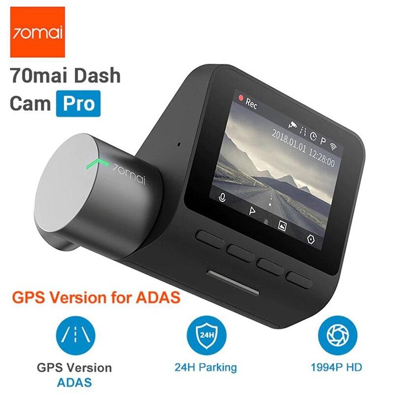 Xiaomi 70mai traço cam pro 1944 p gps adas câmera do carro dvr 70mai carro traço vehicl câmera wifi dvr controle de voz 24 h estacionamento monitor