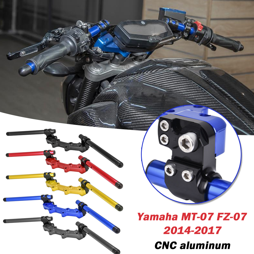 MT07 Motorcycle Adjustable Clip-On Handlebar Handle Bar Lower Sport Kit W/ Clamp For YAMAHA MT-07 FZ07 MT 07 2014 2015 2016 2017