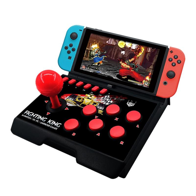 4 in 1 Verdrahtete Konsole Retro Arcade Joystick Für Nintendo Schalter Controller Street Fighting Stick Für PS3 PC Android Spiel
