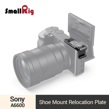 SmallRig a6600 Left-Side Shoe Mount Relocation Plate for Sony a6600 Camera Cold Shoe Extension Plate - 2497