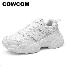 COWCOM damla satış toptan 2019 kış düşük yardım ile koşu ayakkabıları kadın açık moda rahat spor ayakkabı CYL A 657