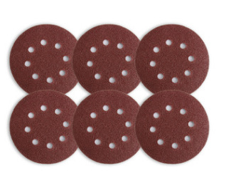5-Inch 8-Hole Manufacturers Direct Selling Bei Rong Disc Sandpaper Qi Mo Flocking Sandpaper Pieces Self-Adhesive Sandpaper Round