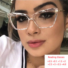 Gafas de lectura de Ojos de gato para mujer, anteojos de lectura para ojos de gato con prescripción, montura falsa de lujo, gafas de hipermetropía con grados