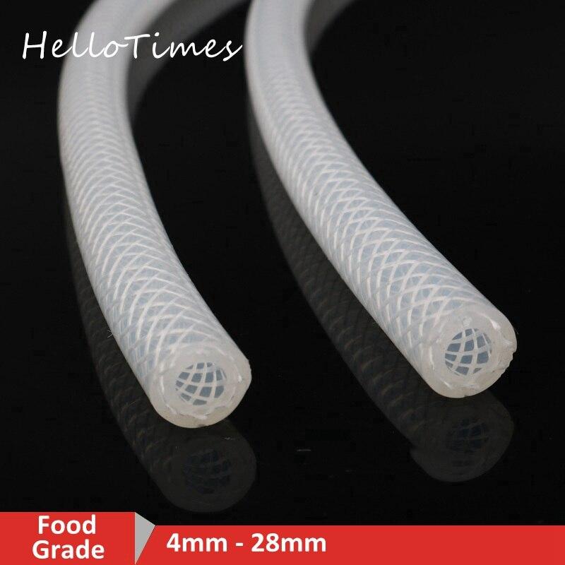 1 m tubo de silicone de grau alimentício 4 6 8 10 12 16 20 28mm para fora diâmetro mangueira de borracha flexível mangueira de leite tubo de cerveja