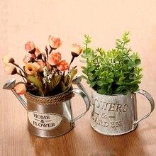 regadera con flores RETRO VINTAGE