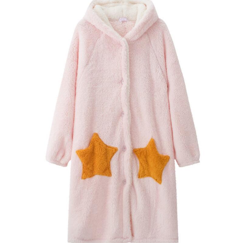 Winter-Blanket-with-Sleeve-Hooded-Hoodie-Women-Long-Sweatshirt-Female-Indoor-Pajama-Cardigan-Fleece-Jacket-Fannel. (3)