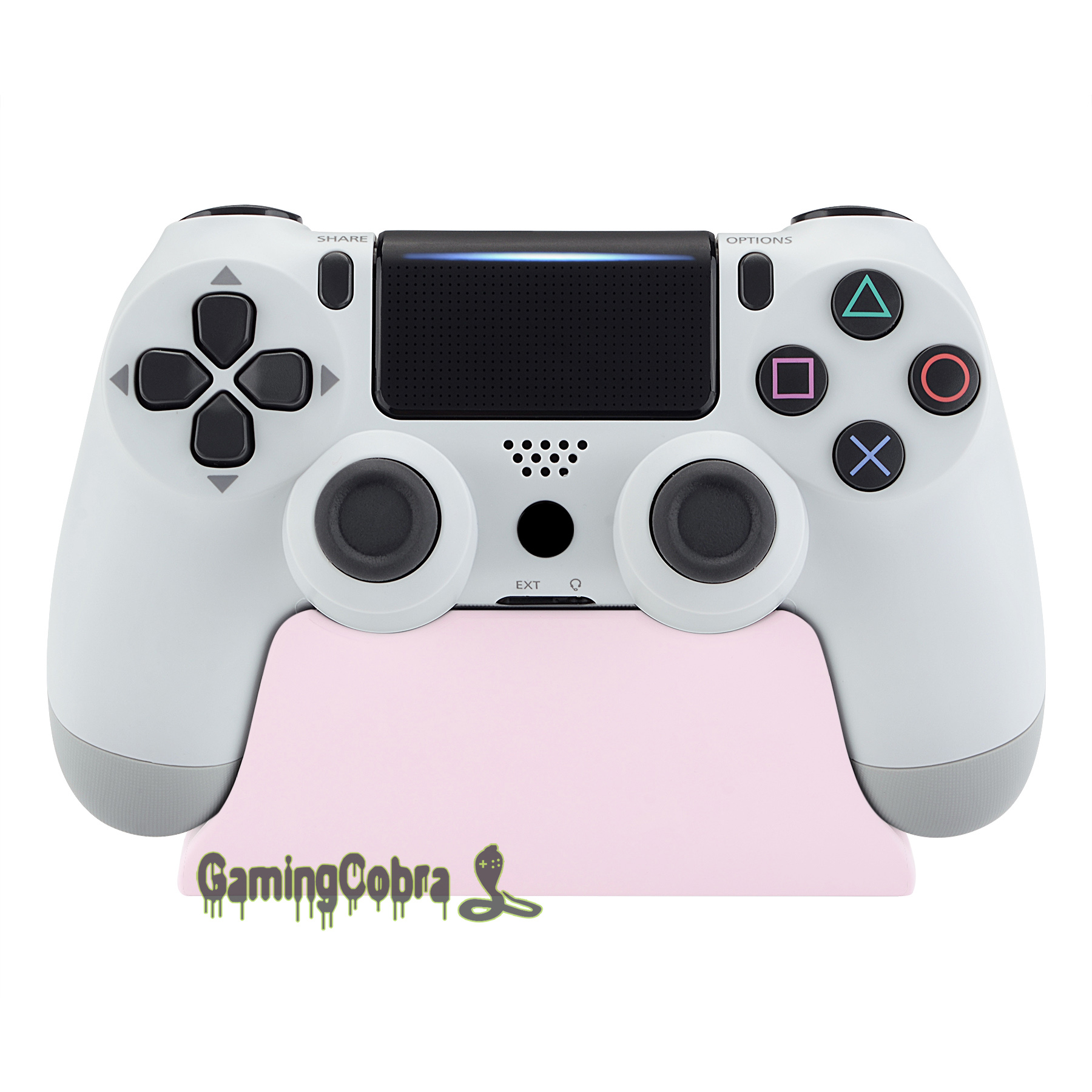 Sakura Pink Controller Display Stand Gamepad Desk Holder For PlayStation 4 PS4 Slim PS4 Pro Controller With Rubber Pads