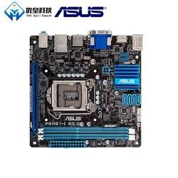 Oryginalny używany pulpitu płyta główna Intel H61 Asus P8H61 I R2.0 gniazdo LGA 1155 rdzeń i7/i5/i3/Pentium /Celeron DDR3 16G Mini ATX w Płyty główne od Komputer i biuro na