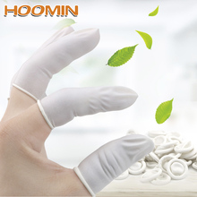 Finger-Cots Rubber-Gloves Protective Latex Disposable White HOOMIN Nature 260/700piece