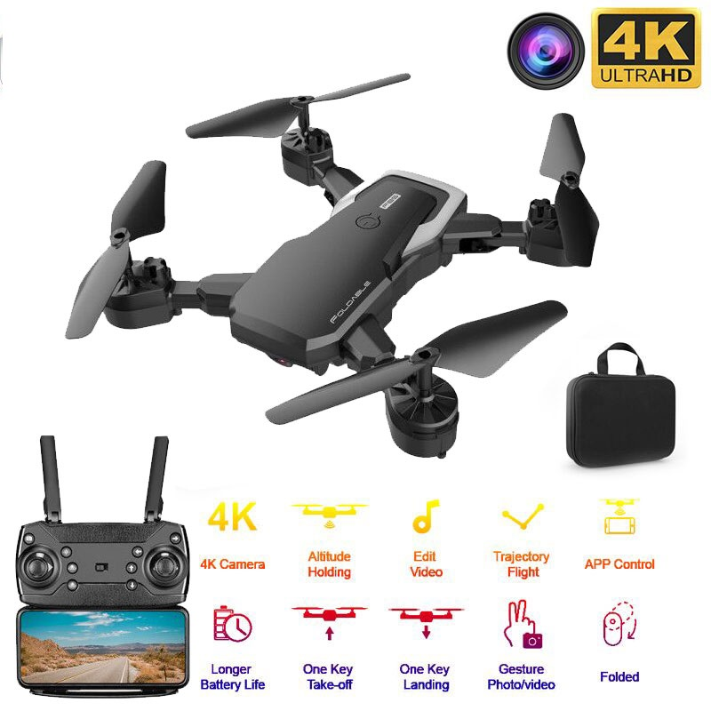 F85 RC Drone 4K HD Camera Professional Aerial Photography Helicopter 360 Degree Flip Foldable Quadcopter best gift for children