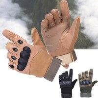 전술 장갑 야외 육군 군사 페인트 볼 하이킹 슈팅 등반 Airsoft 하드 너클 전체 손가락 장갑