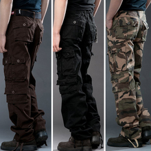 Men's trousers jogger trousers men's military camouflage overalls multi-pocket slacks straight-leg trousers,final clear out