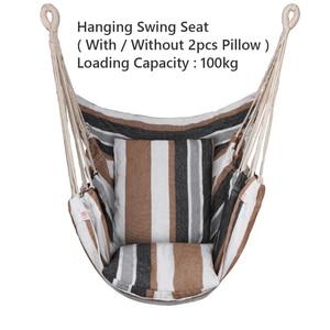 Garden Hang Chair Swinging Indoor Outdoor Furniture Hammock Hanging Rope Chair Swing Chair Seat With Pillows Hammock