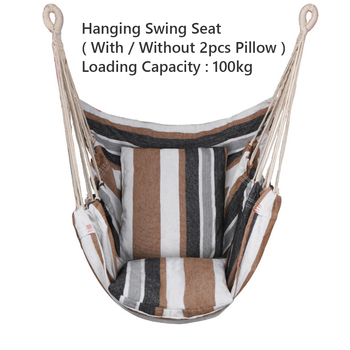 Garden Hang Chair Swinging Indoor Outdoor Furniture Hammock Hanging Rope Chair Swing Chair Seat With Pillows Hammock cotton rope garden swing chair thicken portable hammock with foot pad wooden indoor outdoor swing relax camping hang chair seat