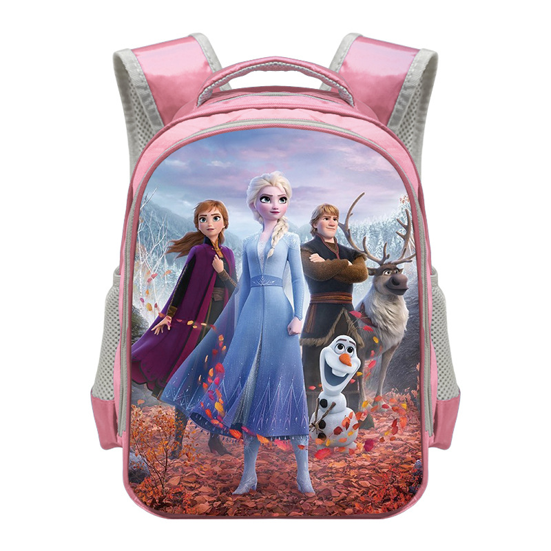New 13 Inch Cartoon Princess Printing Backpack Children Snow Queen School Bags Backpack Girls Kindergarten Bag Elsa Backpacks