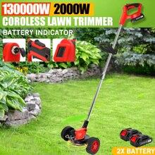 Cortacésped eléctrico inalámbrico con indicador de batería, cortacésped ajustable de 2000W y 36V, cortador de setos, herramienta para podar el jardín