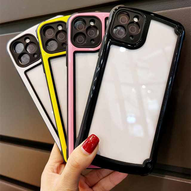 Luxury Transparent Phone Case For Apple iPhone 11 12 Pro Max mini SE 2020 X XR XS Max 7 8 Plus Camera Candy Color Cover Case 2