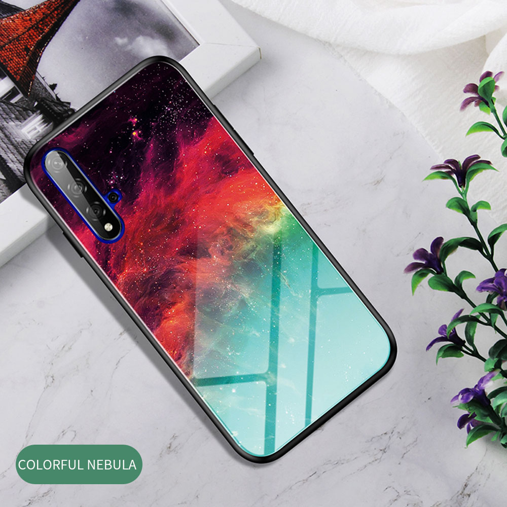 H4bf23e0d8e4645fc9000a17bdb6bae5dJ Phone Case for Huawei Honor 20s 20 Case Marble Tempered Glass Soft Tpu Frame Back Case for Huawei Honor 20s Honor 20 Pro Case
