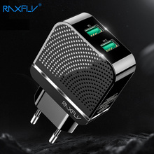 RAXFLY 2.4A USB Phone Charger Dual Ports Fast Charge Charging Travel  Wall For iPhone Samsung Xiaomi Accessories