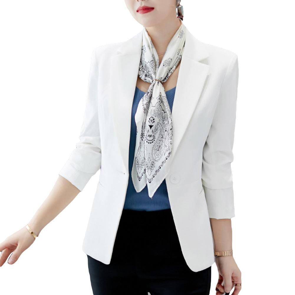 Fashion Women Blazer One Button Solid Color Lapel Blazers Long Sleeve Slim Office Jackets Blazer Mujer Coat Suit пиджак женский