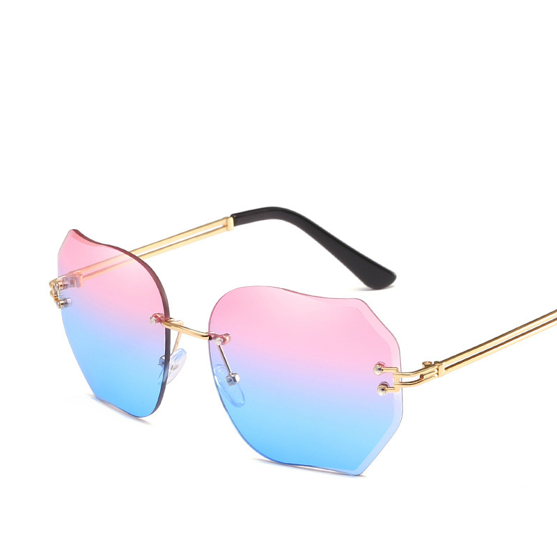 Maam Nothing Frame Cutting Edge Sunglasses Irregular Personality Sun Glasses Ocean Piece