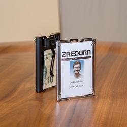 Держатель для значка zayex, прочный ID держатель для карт с ремешком, металлический зажим для офиса, ID школы, Вмещает 1-4 карты