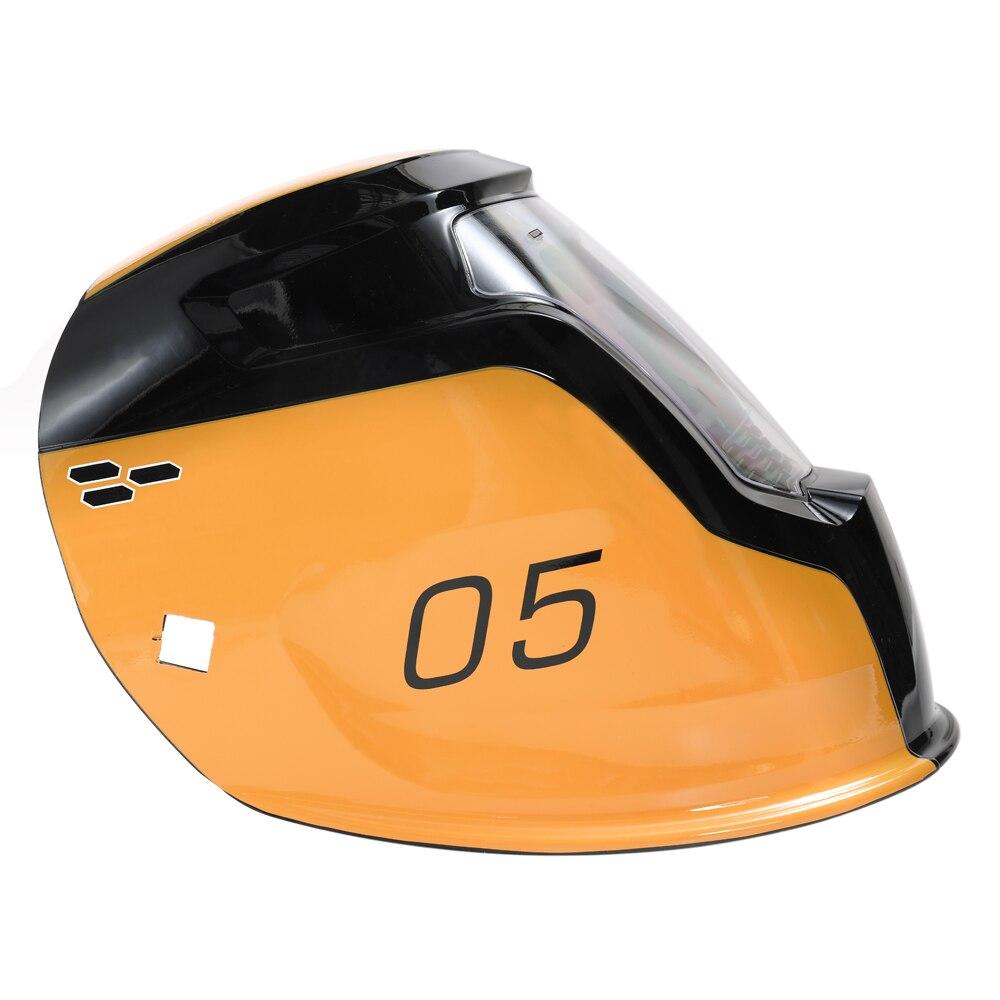 Capacete de solda em mudança automático da máscara da soldadura da luz da energia solar com 2 sensores do arco dos pces - 2