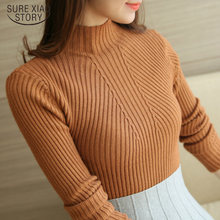 Solid lange mouwen wit en zwart tops Fashion womens truien 2019 winter Coltrui Truien Truien Femme Kleding 5218 90(China)