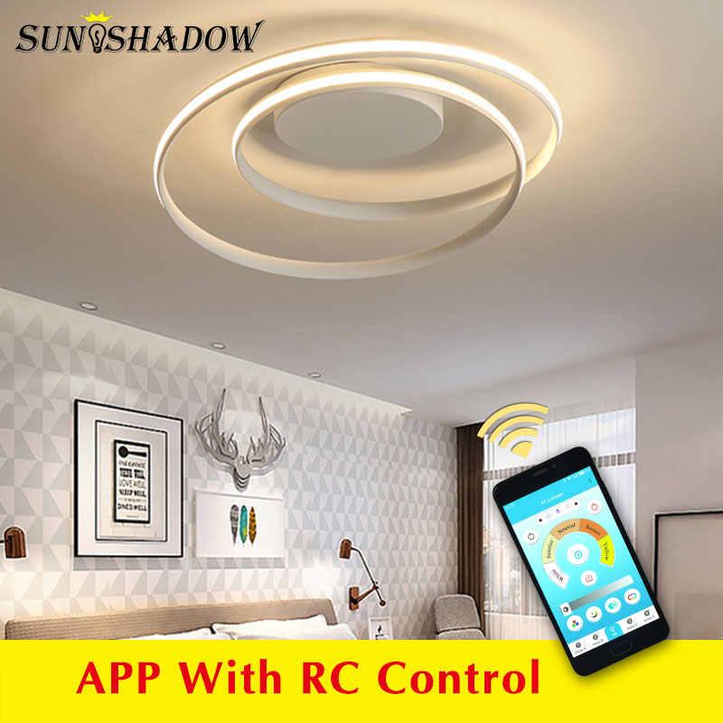 Черный и белый современный светодиодный светильник для дома, светодиодный потолочный светильник для гостиной, спальни, кухни, гостиной