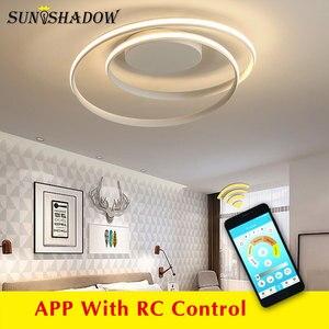 Image 2 - Black & White โมเดิร์นโคมไฟระย้า LED ติดตั้งภายในบ้านโคมไฟเพดาน LED โคมไฟระย้าสำหรับห้องนั่งเล่นห้องนอนห้องครัวห้องนั่งเล่น