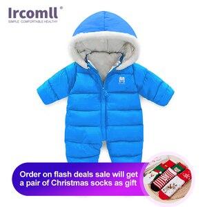 Image 1 - עבה חד חתיכות Romper עבור תינוק יילוד בתוך בתוספת קטיפה רך חורף פעוט סרבל תינוק פעוט בגדי גוף חליפה