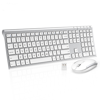 SeenDa 2.4G Ultra Slim Full Size Rechargeable Wireless Keyboard and Mouse Combo for Windows Laptop Notebook Russian/English seenda low noise wireless keyboard and mouse combo ultra thin wireless keyboard mouse for laptop notebook computer smart tv