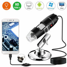 40X 1000X Magnifier 8 LED Microscope Digital Mini Camera Handheld USB Video Endoscope Micro Cam School Numerique Electronique