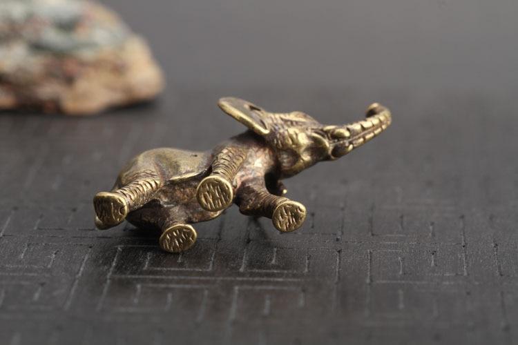 Brass Elephant Key Chains Pendants  (12)