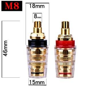 Image 2 - HIFIDIY canlı DIY hoparlör terminal konnektörü bağlama sonrası HIFI amplifikatör saf bakır altın kaplama muz soket bağlantı kutusu M8 l8