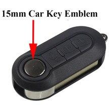 10 pces 15mm diâmetro logotipo chave do carro adesivo carro remoto chave emblema