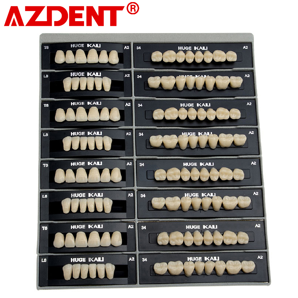 4 Sets /box Dental Synthetic Polymer Teeth Resin Denture Dental Teeth Model A2/A3