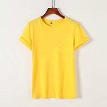 JFUNCY Soild Color Tshirt